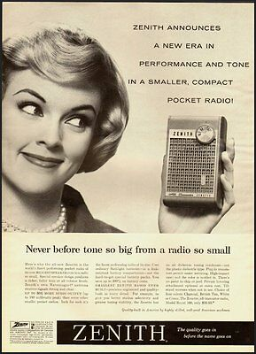 1960 Vintage ad for ZENITH Compact Pocket Radio (051712)