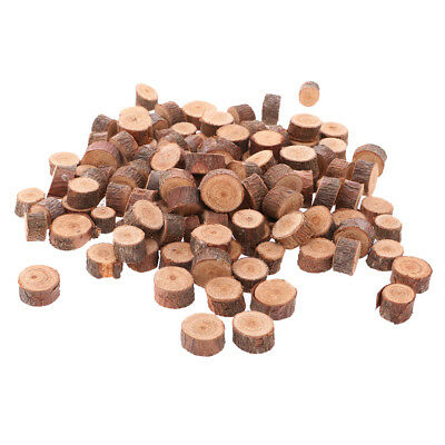 100pcs Natural Wood Pine Tree Slice Disc Wedding Centerpiece Round 1-1.5cm