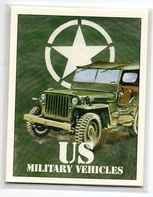 US Military Vehicles of WWII - 7 Card set