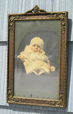 Amazing Aesthetic Eastlake Victorian Art Crafts Aged Picture Frame Baby 10~16