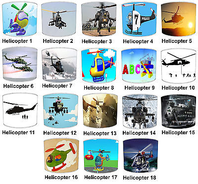 Helicopter Lampshades Ideal To Match Helicopter Wall Hangings Helicopter Duvets.
