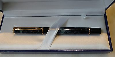 Waterman Laureat Rollerball Gray Marble Pen NIB