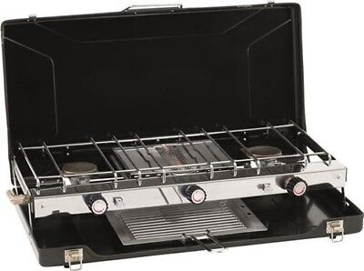Outwell Appetizer Cooker 2-in-1 3-Burner Stove & Grill Table Top | Camping