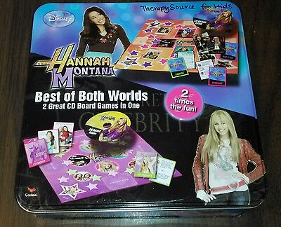 FACTORY SEALED: Hannah Montana/Best of Both Worlds-2 Great CD Board Games In One