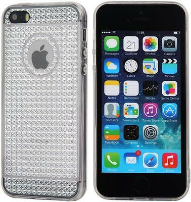Diamond Style Gel Soft Silicone Case Cover Anti Slip for Various Apple Models