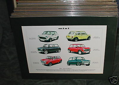 MINI special editions Mounted full colour Print