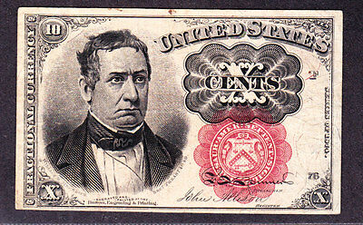 US 10c Fractional Currency 5th Issue Pos F 76 FR 1266 VF-XF (-003)