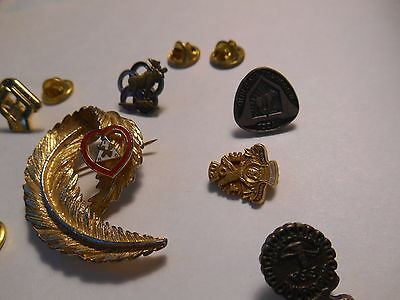 Moose Club;  11 Vintage Lapel Pins ( 1 Womans Broch ) All A+ See  All Pictures