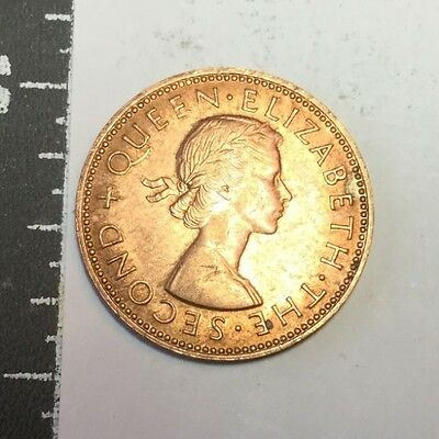 NEW ZEALAND 1962 1/2 penny coin uncirculated