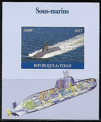 Chad 2017 Submarines Souvenir Sheet Imperforate Mint Never Hinged