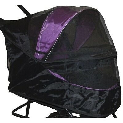 Weather Cover for Special Edition No-Zip Pet Dog Stroller - Black