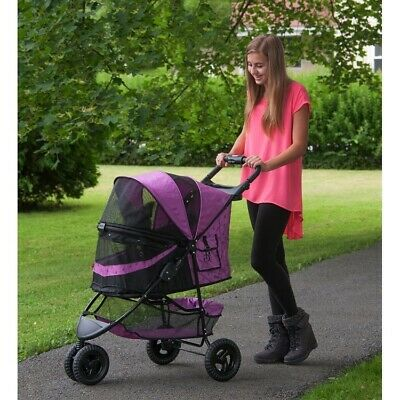 Special Edition No-Zip Pet Dog Stroller - Orchid