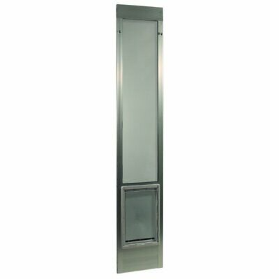 """Fast Fit Pet Patio Dog Door - Extra Large/Silver Frame 77 5/8"""" to 80 3/8"""""""