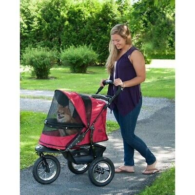 Jogger No-Zip Pet Dog Stroller - Rugged Red