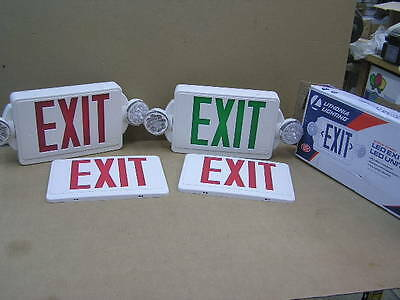 Two USED Lithonia Lighting LED Exit Signs Model 2HQM LED GM6
