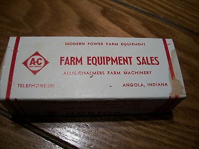 old vintage AC Allis-Chalmers dealer Iodine Swabs box Angola,Indiana,IN farm