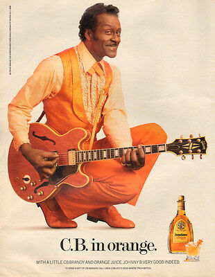1987 print AD,  CHUCK BERRY in Orange for Christian Brothers Brandy  (103014)