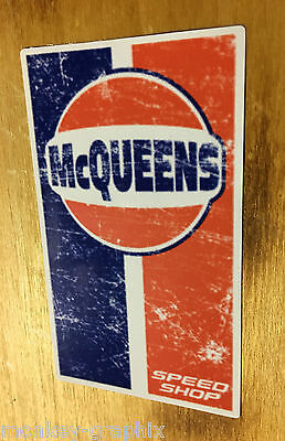 Mc Queens Oldschool Sticker USA Aufkleber Muscle Car Skull Rockabilly V8 RACING