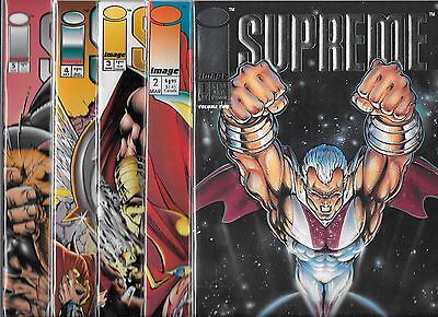 Supreme Lot Of 5 - #1 #2 #3 #4 #5 (Nm-) Image Comics