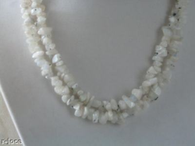 Necklace With + Of 250 Chips Moonstone Long 85 Cm