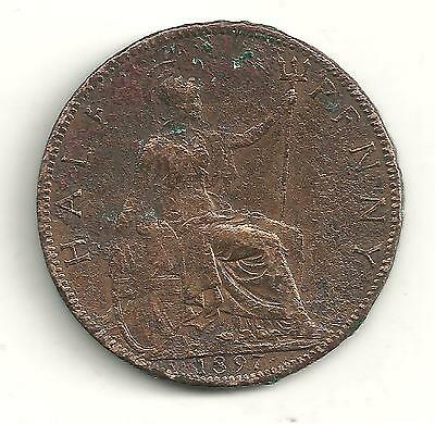 Very Nicely Detailed 1897 Great Britain English Half Penny-Jn201