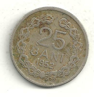 Very Nicely Detailed 1952 Romania 25 Bani Coin-Jn154