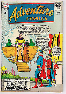 Adventure COMICS 314 DC 1963 - 3 or more Comic Books get Free Shipping