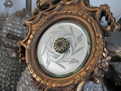 EXQUISITE Old French BARBOLA GESSO TIE BACK  with Etched Mirror & Ornate Details
