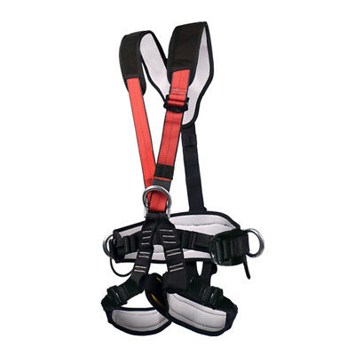 Full Body Rock Climbing Safety Belt Harness for Mountaineering Tree Arborist