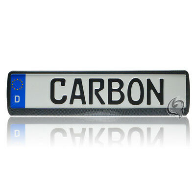 Renault 1x Carbon Look License Plate Holder Number Tuning