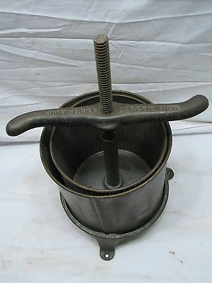 Antique Schriver Co Juicy Fruit Press Wine Making Tool 6-Quart