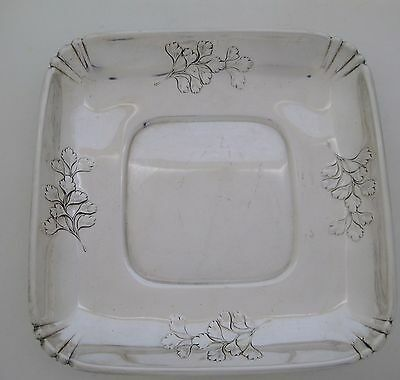 "WALLACE STERLING SILVER CANDY NUT DISH/BOWL 6 X 6 SQUARE"" no mono"