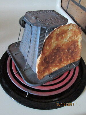 Vintage Metal 4 Slice Toaster for Woodstove Cook Stove Tested & Works Pat'd 1909