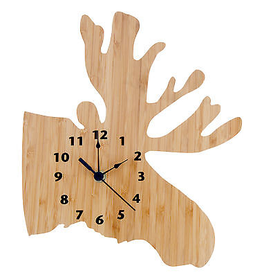 Trend Lab Wall Clock -Northwoods Moose