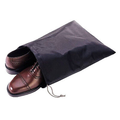 2x Shoes Clothes Travel Pouch Portable Drawstring Storage Bag Waterproof Nylon