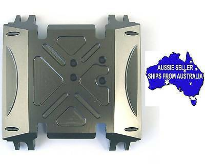 Alloy Skid Plate for Axial Wraith 1:10 RC Crawlers - Gunmetal