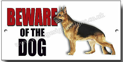"Alsatian ""beware Of The Dog"" Metal Sign,dog Breeds,security Sign."