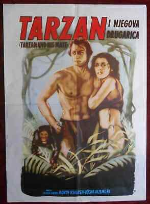 1934 Original Movie Poster Tarzan and his Mate Burroughs Johnny Weissmuller