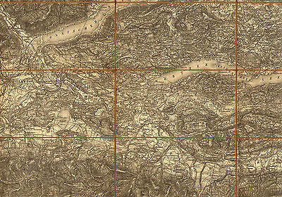 ORIGINAL MILITARY Topographic Detailed Map South Austria Klagenfurt