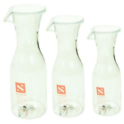 Clear Plastic Water Juice Carafe Serving Bottle Jug With Lid Choice Of Sizes