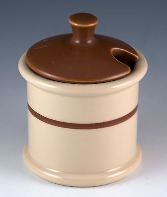 Vintage Jackson China Restaurant Ware Jac-Tan Mustard Pot With Replacement Lid