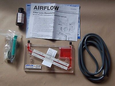 AIRFLOW Instruments Filter Loss Manometer AFL400 400PA Pascals