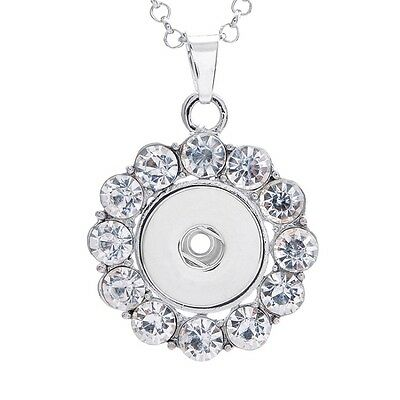 18mm Charm Crystal Alloy Pendant for Fit Noosa Necklace Snap Chunk Button A235