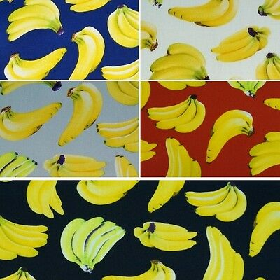 Falling Bunches of Bananas Fruit 100% Cotton Poplin Fabric (Fabric Freedom)