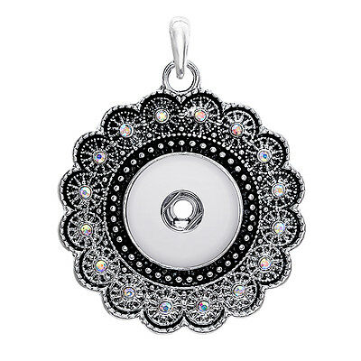 18mm Charm Crystal Alloy Pendant for Fit Noosa Necklace Snap Chunk Button A74