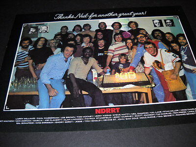 NEIL DIAMOND poses with staff of NDRRT original 1977 PROMO DISPLAY PAGE mint con