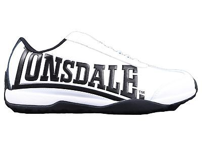 New Lonsdale London Profile Mens Leather Slip On Casual Shoes
