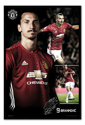 Framed Manchester United Ibrahimovic 16/17 Collage Poster New