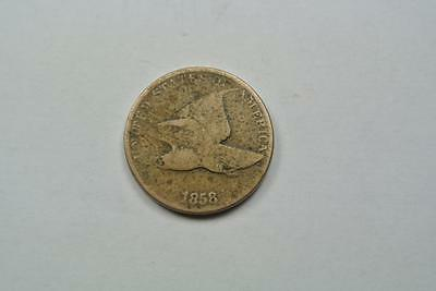 1858 Flying Eagle One Cent, Large Letters, Good+ Condition - C2979