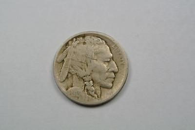 1913-D Indian Head Buffalo Nickel, T.2, Flat Ground, Fine/VF Condition - C3002